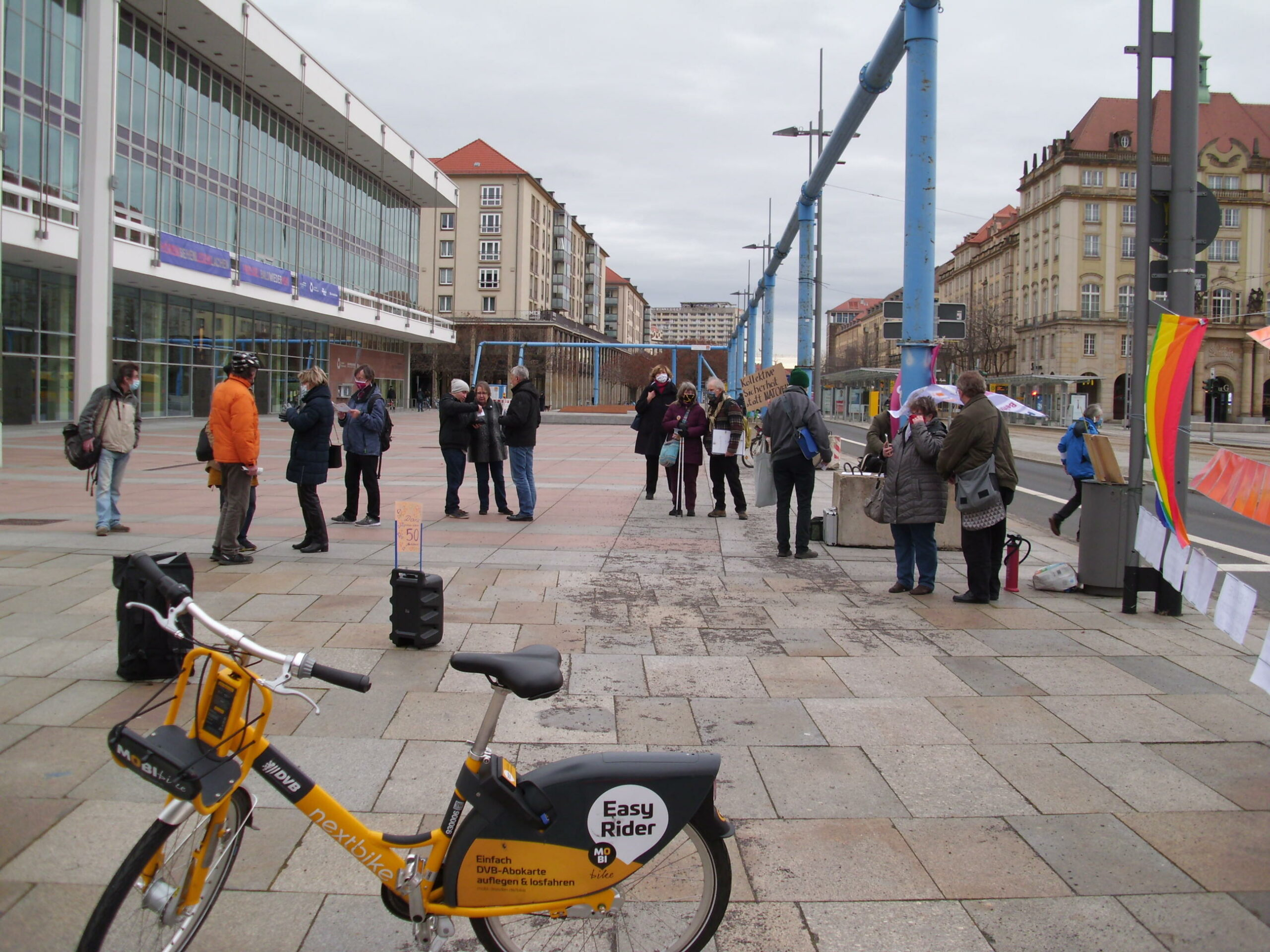 Demo-Bericht: Atomwaffen sind auch in Dresden verboten