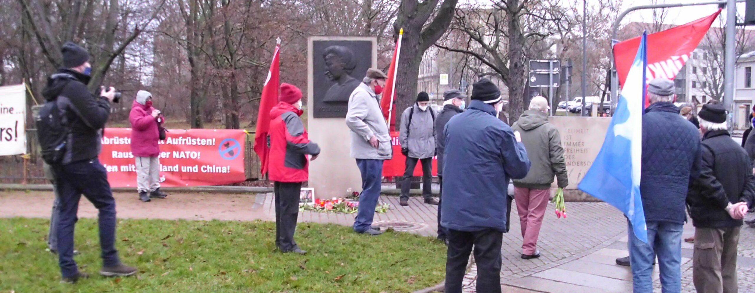 Ehrung für Rosa Luxemburg und Karl Liebknecht